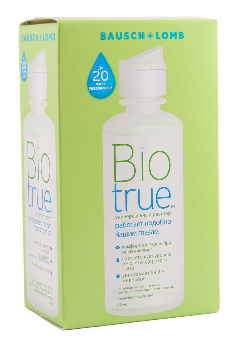 Biotrue Раствор для контактных линз, с контейнером, 120 мл25974В основе универсального раствора Biotrue лежат многочисленные рекомендации специалистов и обширные научные исследования, посвященные естественным механизмам поддержания здоровья глаз. Таким образом, данный раствор по составу похож на слезную жидкость, и его воздействие ощущается именно так. Кислотно-щелочной баланс Biotrue тот же, что и у натуральной слезы, здесь содержатся те же увлажняющие и смазывающие вещества, что и в ткани самого глаза. Поэтому применение раствора препятствует распаду натуральных белков. Для здорового и комфортного ношения мы рекомендуем соблюдать ежедневный режим очистки ваших контактных линз. При этом на каждую линзу необходимо нанести по три капли раствора и потереть их круговыми движениями минимум 20 секунд. Затем надо сполоснуть каждую сторону линзы, поместить их в контейнер, заполненный новым раствором Biotrue, и оставить его минимум на четыре часа. При этом раствор в контейнере нельзя использовать повторно. Только так вы сохраните свои линзы чистыми и свежими, а ощущение комфорта не будет покидать вас ни на минуту в течение всего дня.Время для полной очистки линз: 4 часа. Характеристики: Объем: 120 мл. Материал контейнера: пластик. Производитель: США. Товар сертифицирован.Контактные линзы или очки: советы офтальмологов. Статья OZON Гид