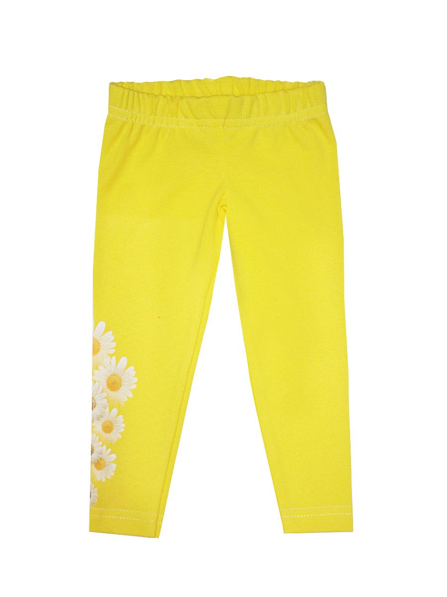 Леггинсы для девочки КотМарКот, цвет: желтый, белый. 5162. Размер 74, 6-9 месяцев чепчик для девочки котмаркот цвет желтый 8262 размер 48 6 12 месяцев