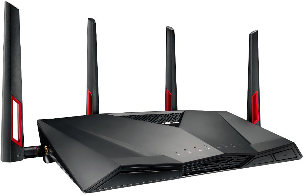 ASUS RT-AC88U, Black маршрутизатор wi fi роутер asus rt ac66u rt ac66u b1