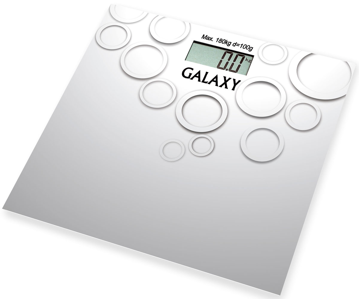 Galaxy GL 4806 весы электронные4650067301105Электронные весы Galaxy GL 4806 разработаны специально для тех, кто следит за своим здоровьем и физической формой. Стильный дизайн, ультратонкий корпус, большой дисплей! Сверхточная сенсорная система датчиков. Прорезиненные ножки.Весы работают от 1 батарейки CR2032.