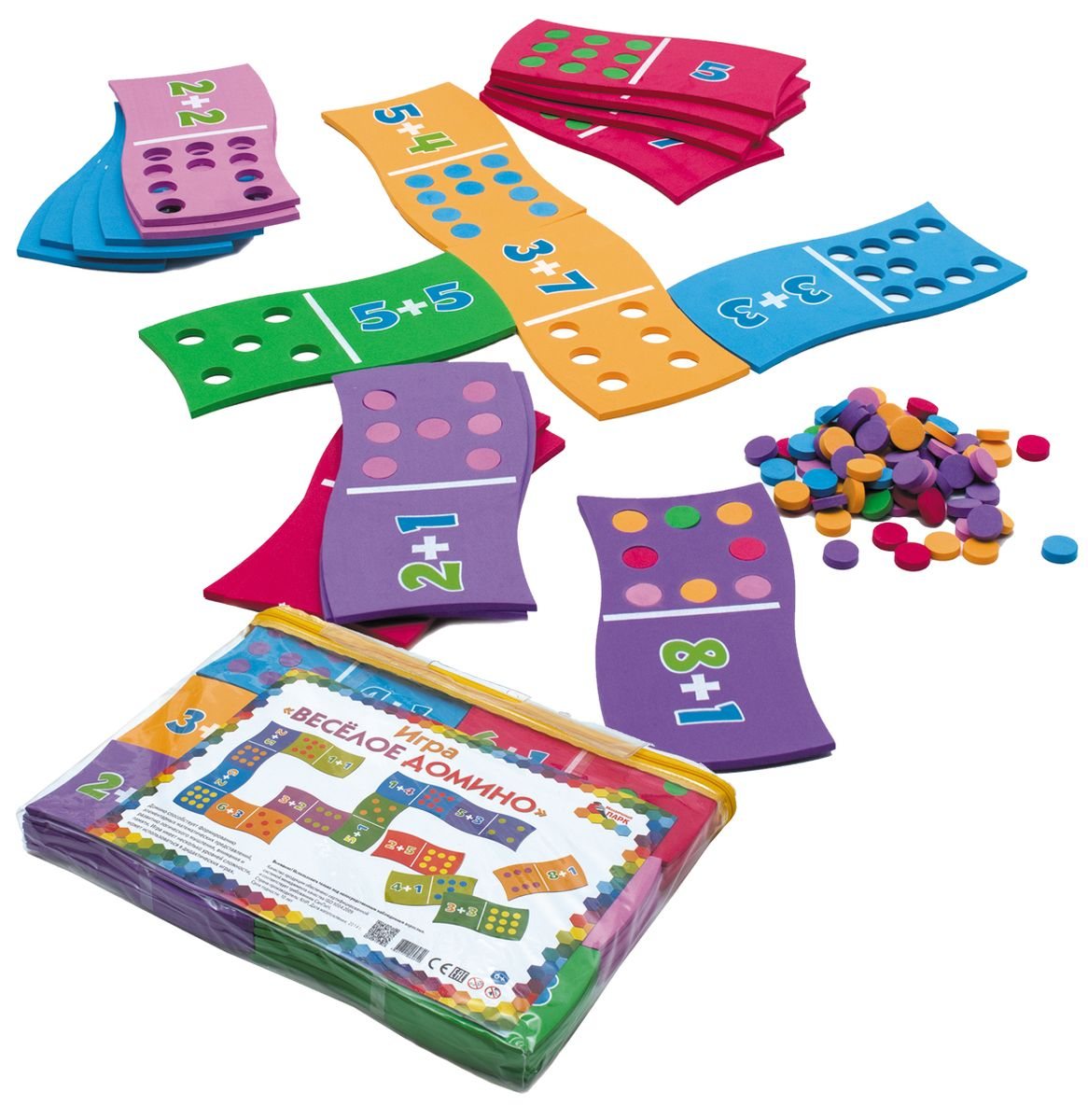 Мозаичный парк Обучающая игра Веселое домино