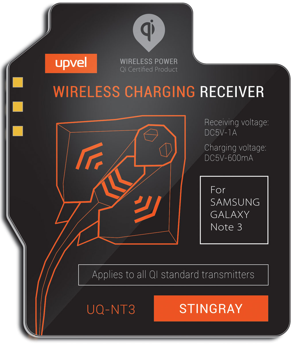 UPVEL UQ-NT3 Stingray для Samsung Galaxy Note 3, Black модуль-приемник беспроводной зарядки стандарта Qi ccy u3 165 bk micro usb 3 0 male to usb 3 0 female otg cable w external power for galaxy note 3
