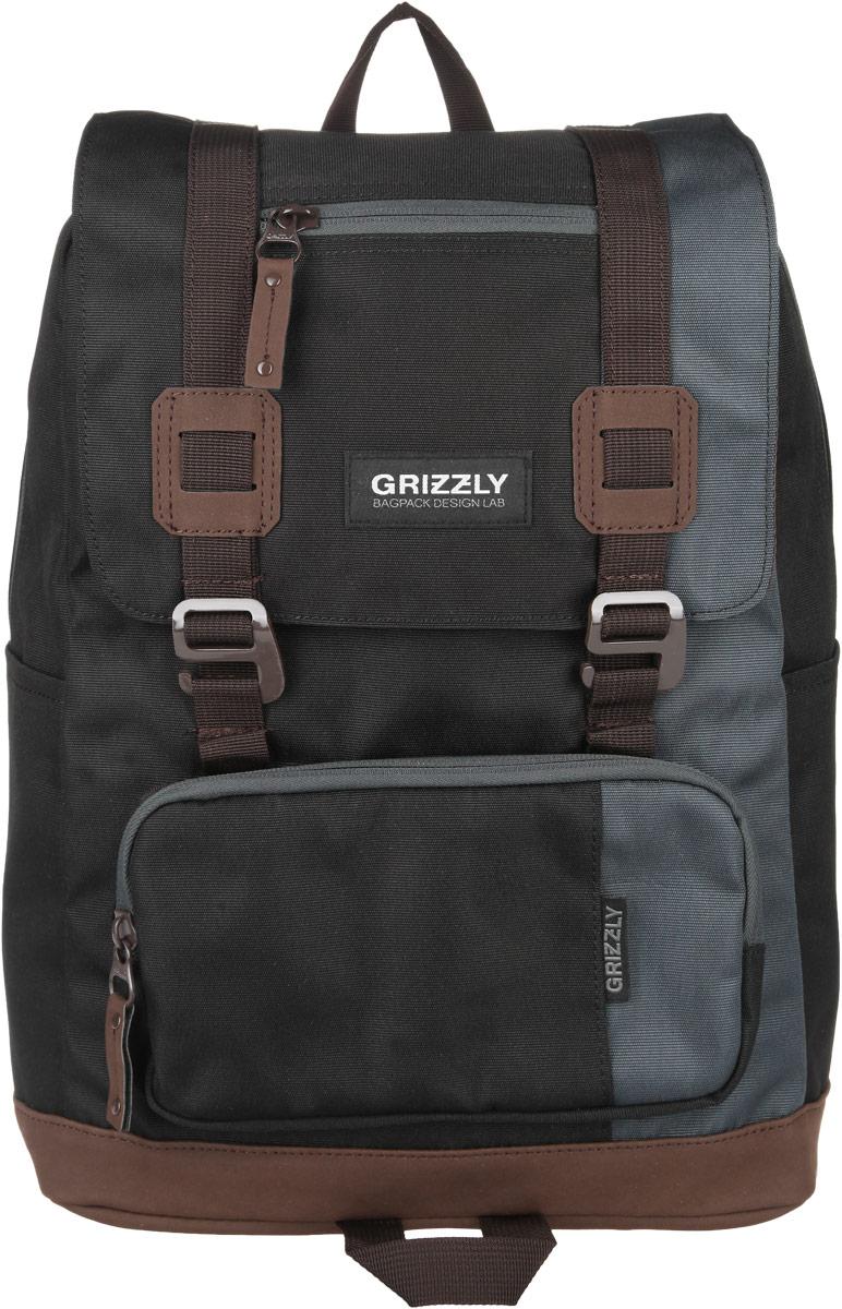 Рюкзак городской Grizzly, цвет: черный, 23 л. RU-619-2/4RU-619-2/4Стильный городской рюкзак Grizzly выполнен из таслана, оформлен нашивкой с символикой бренда.Рюкзак содержит одно вместительное отделение, которое закрывается на молнию и дополнительно клапаном на пластиковые пряжки. Внутри расположены: врезной карман на молнии и мягкий накладной карман на липучке, предназначенный для переноски планшета или небольшого ноутбука. Снаружи, по бокам изделия, расположены два накладных кармана. Клапан дополнен врезной карман на молнии. На лицевой стороне расположен объемный накладной карман на молнии. Задняя сторона рюкзака дополнена потайным карманом на молнии. Рюкзак оснащен петлей для подвешивания, двумя практичными лямками регулируемой длины.Практичный рюкзак станет незаменимым аксессуаром, который вместит в себя все необходимое.