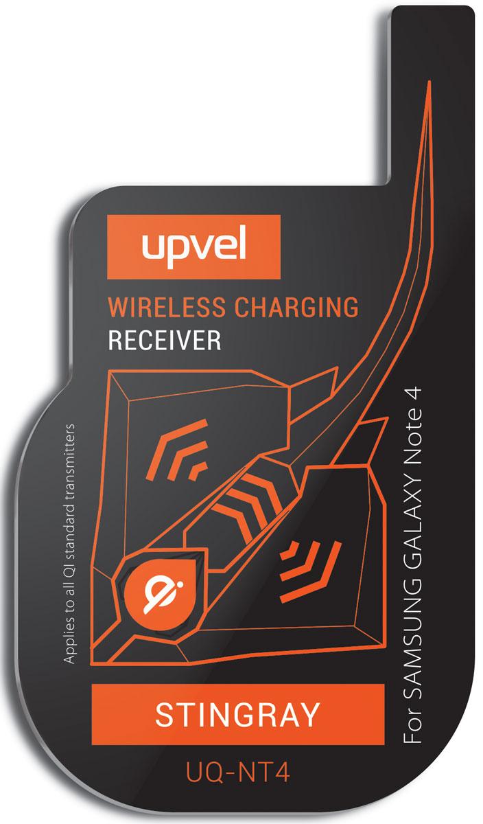 UPVEL UQ-NT4 Stingray для Samsung Galaxy Note 4, Black модуль-приемник беспроводной зарядки стандарта QiUQ-NT4 STINGRAYUPVEL UQ-NT4 позволяет заряжать Samsung Galaxy Note 4 при помощи беспроводных зарядных устройств стандарта Qi. Плоский модуль беспроводной зарядки фиксируется на аккумуляторной батарее смартфона, под задней крышкой. Устройство не влияет на нормальную работу смартфона и не изменяет его внешний вид.Рабочее расстояние: до 5-7 ммЭффективность: 500 мАчСтандарты: WPC