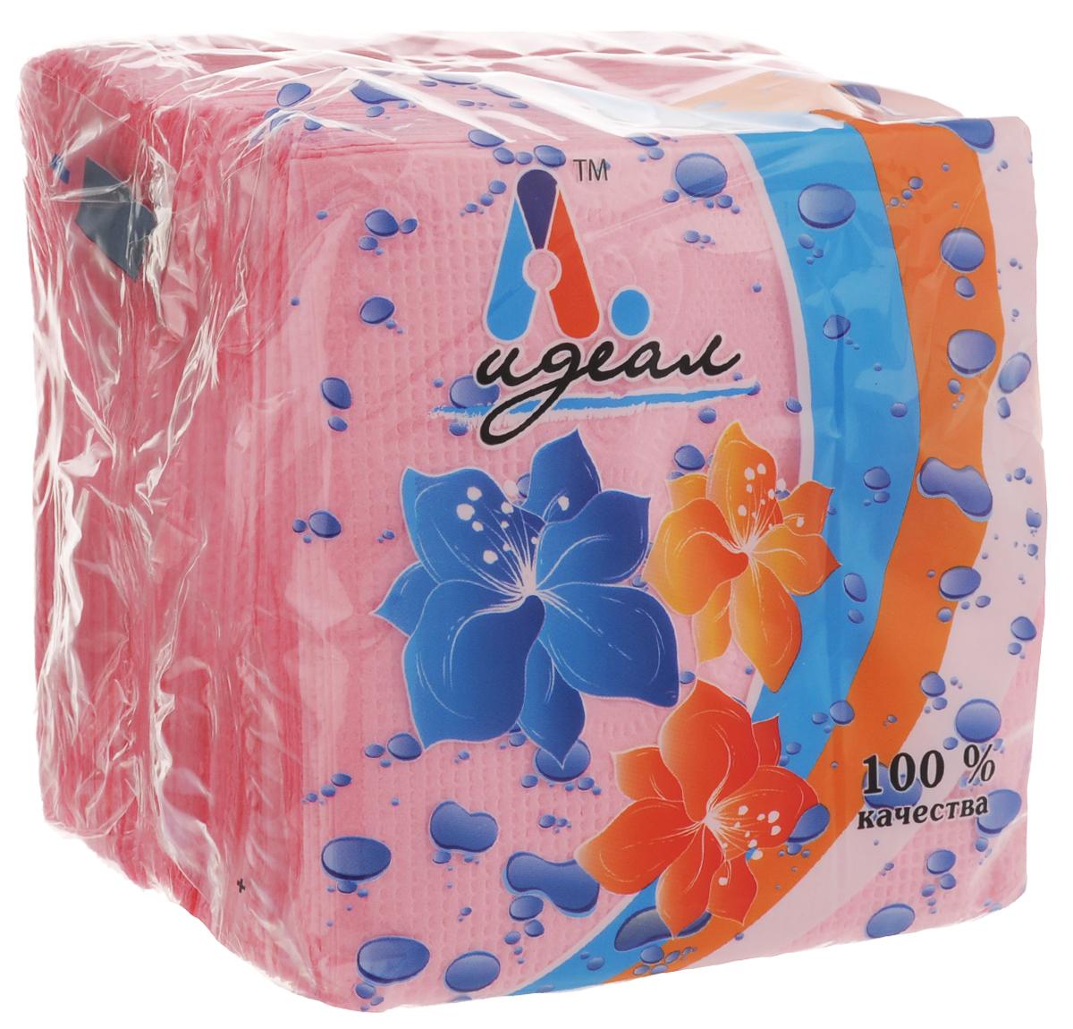 Салфетки бумажные Идеал, цвет: розовый, 85 штСЛФ04782Бумажные салфетки Идеал выполнены из 100% целлюлозы. Салфетки подходят для косметического, санитарно-гигиенического и хозяйственного назначения. Нежные и мягкие. Салфетки украшены узором.Комплектация: 85 +/- 5 шт.Размер салфетки: 24 х 24 см.