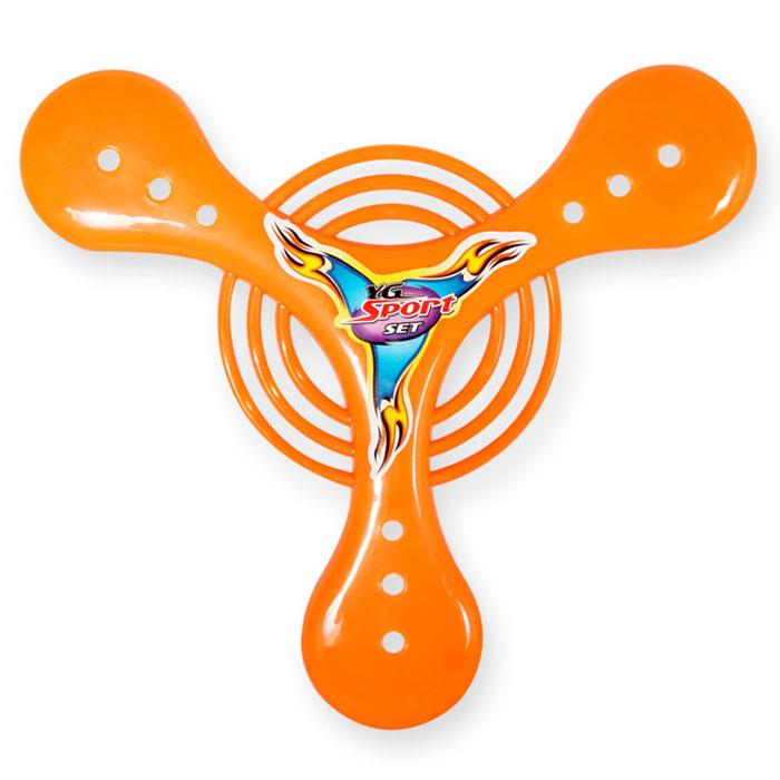 YG Sport Игра на открытом воздухе Бумеранг цвет оранжевый 20 см