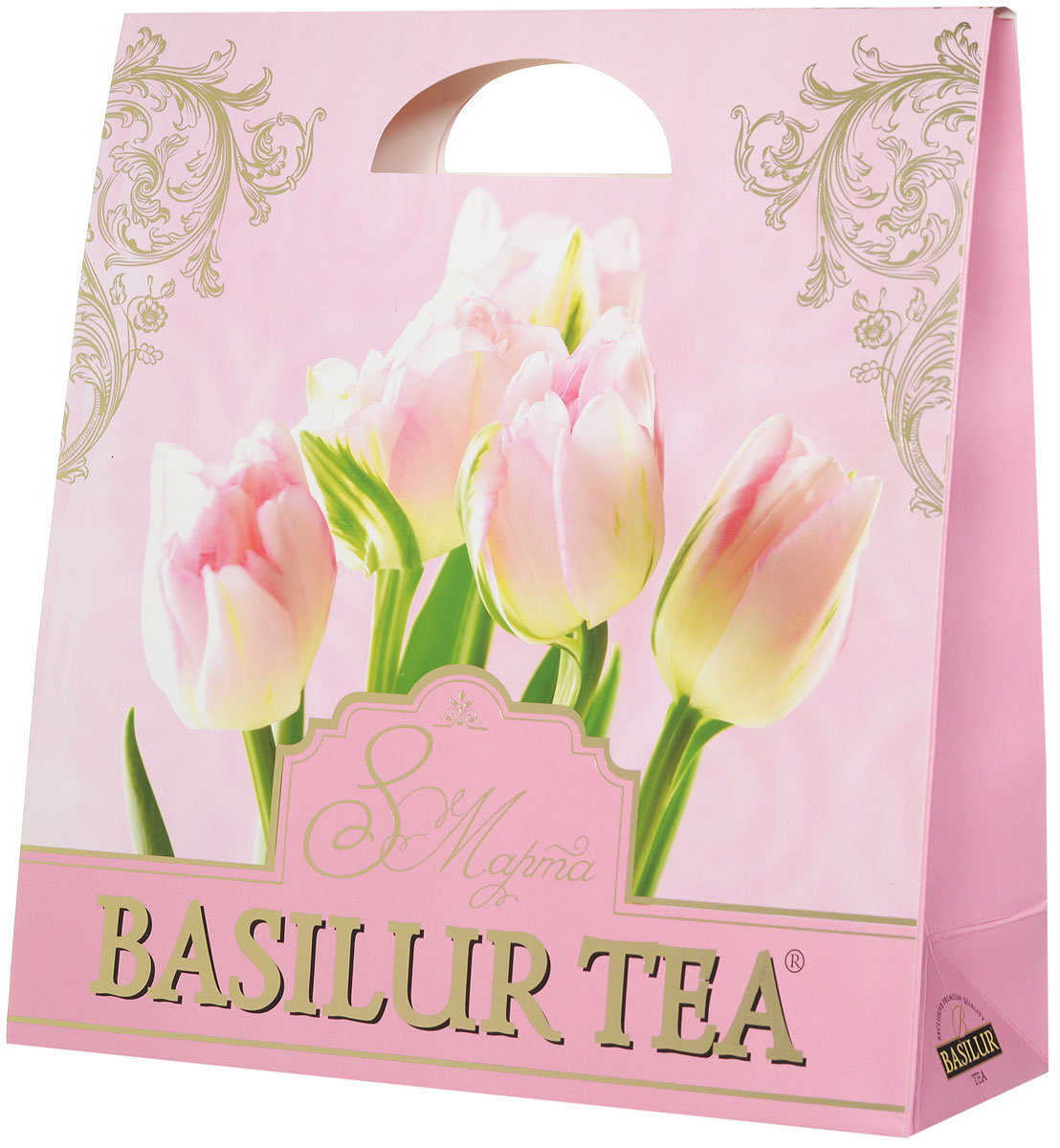 Basilur Подарочный набор Нежный зеленый ягодный чай Париж и салфетка для дома в подарок, 100 г basilur чайный набор букет белое волшебство