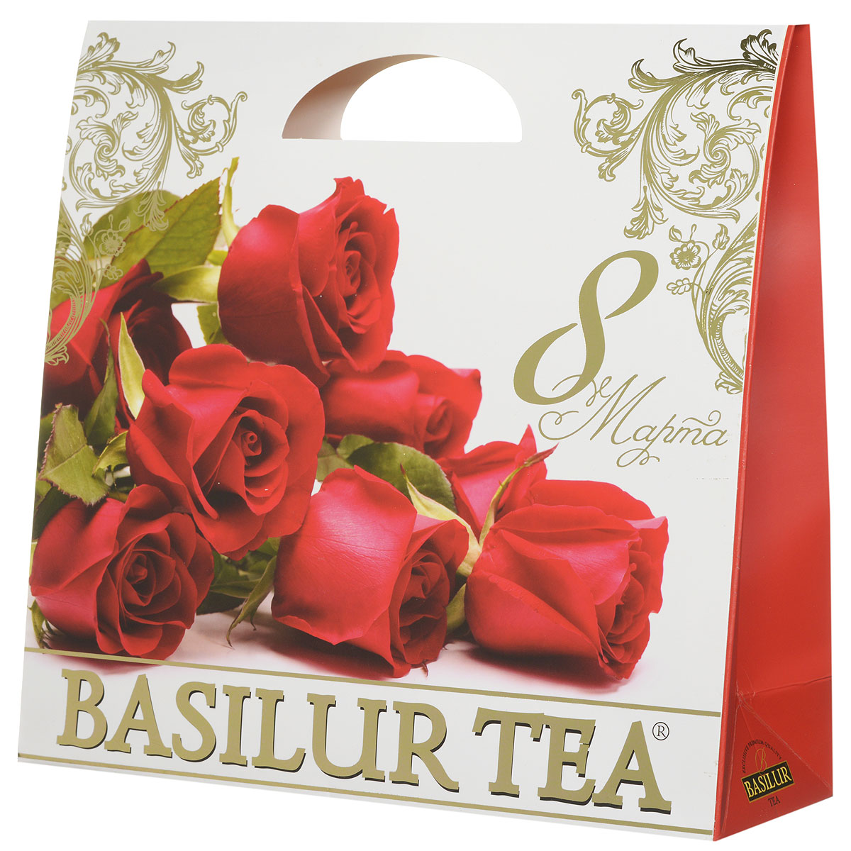 Basilur Подарочный набор Алый зеленый ягодный чай Париж и салфетка для дома в подарок, 100 г basilur чайный набор букет белое волшебство