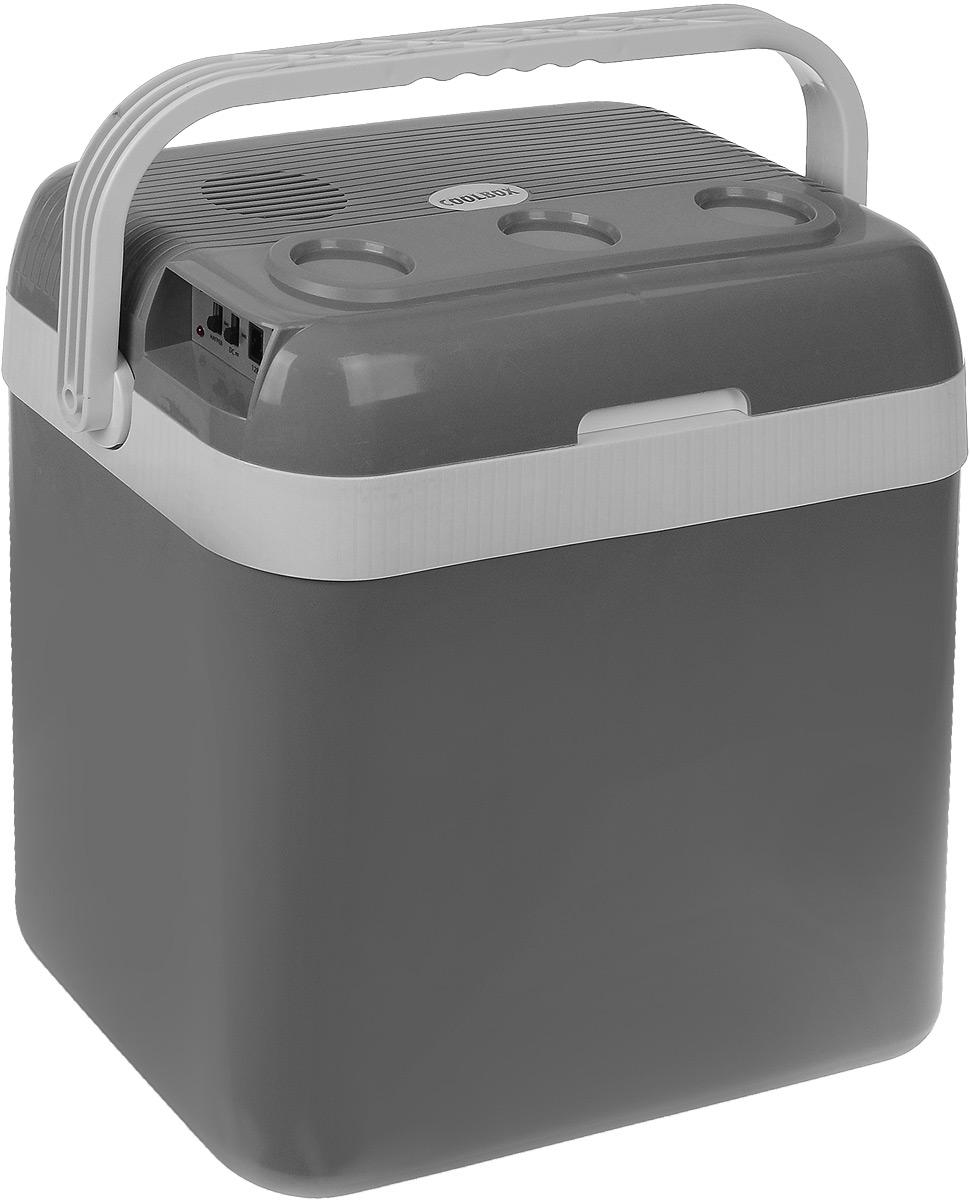 """Автомобильный холодильник AVS """"CC-32В"""" - это незаменимый аксессуар для всех автомобилистов, которые долгое время проводят в дороге. Изделие позволяет сохранить продукты и напитки, которые вы собираетесь взять в дальнюю поездку.Холодильник изготовлен из высокопрочной пластмассы. Вся изоляция выполнена из экологически чистых материалов. Устройство холодильника позволяет переключаться в режим нагрева с увеличением температуры внутри камеры до 65°С.Работает без компрессора и имеет встроенный контроль за состоянием аккумулятора автомобиля. Плотно прилегающая и фиксируемая крышка позволяет использовать холодильник с наибольшим КПД.Для наилучшего рекомендуется использовать аккумуляторы холода AVS.Питание: 220 В/12 В.Мощность в режиме охлаждения: 48 Вт.Мощность в режиме нагрева: 36 Вт.Емкость: 32 л.Принцип работы по эффекту """"Пельтье"""".Максимальное охлаждение: 15-18°С от температуры окружающей среды.Максимальный нагрев: до 65°С.Минимальная температура охлаждения: +5°С (при температуре окружающей среды не выше +23°С и непрерывной работе не менее 3 часов).Подстаканники на верхней крышке.Оснащен ручкой.Вес: 5,2 кг."""