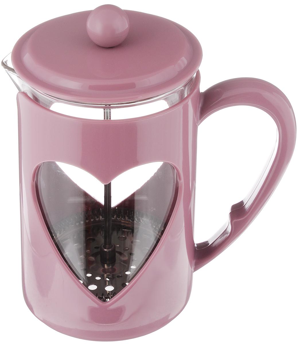 Френч-пресс Mayer & Boch, цвет: пепельно-розовый, прозрачный, 800 мл. 2322623226_ пепельно-розовыйФренч-пресс Mayer & Boch  изготовлен из высококачественного пластика,нержавеющей стали и жаропрочного стекла. Фильтр-поршень из нержавеющейстали выполнен по технологии press-up для обеспечения равномернойциркуляции воды.Засыпая чайную заварку или кофе под фильтр, заливая горячей водой, выполучаете ароматный напиток с оптимальной крепостью и насыщенностью.Остановить процесс заваривания легко, для этого нужно просто опуститьпоршень, и все уйдет вниз, оставляя вверху напиток, готовый купотреблению.Френч-пресс Mayer & Boch позволит быстро и простоприготовить свежий и ароматный кофе или чай.