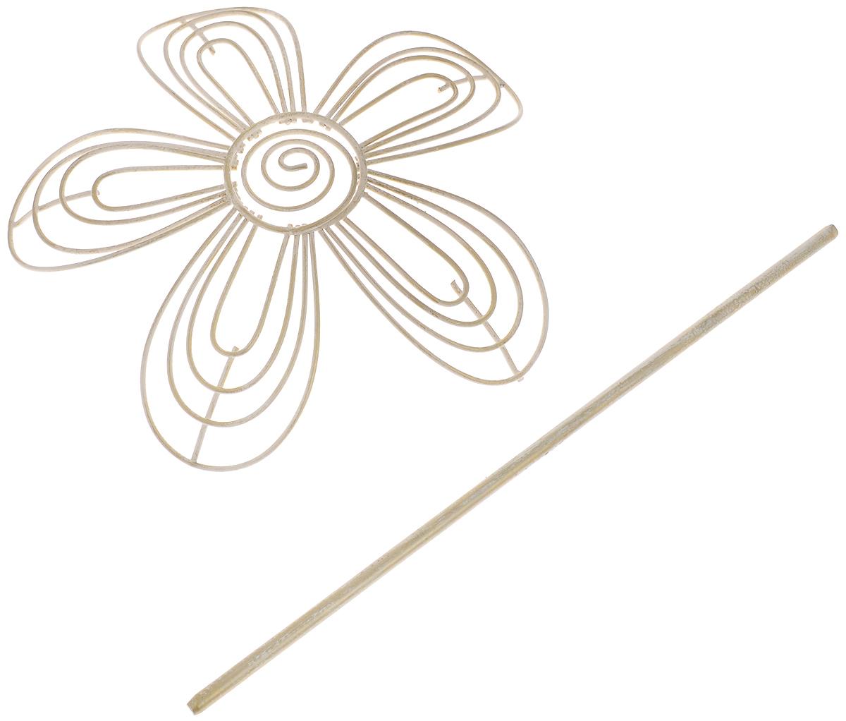 Заколка для штор Мир Мануфактуры, цвет: белый, золотистый697018_6 белый/золотоЗаколка для штор Мир Мануфактуры выполнена из металла в виде цветка.Заколка - это основной вид фурнитуры в декоре штор, сочетающий в себе не только декоративную функцию, но и практическую - регулировать поток света. Заколки для штор способны украсить любую комнату.Размер декоративной части: 16 х 16,3 см.Длина палочки: 23 см.