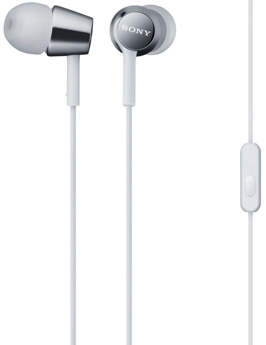 Sony MDR-EX150AP, White наушникиMDR-EX150AP белыйНаушники-вкладыши Sony MDR-EX150AP созданы для тех, кто вечно находится в движении. Удобный в использовании встроенный в кабель микрофон позволяет запросто отвечать на звонки, не вынимая смартфон из кармана или сумки. Завершив разговор можно легко вернуться к прослушиванию музыки благодаря встроенному в кабель пульту управления.