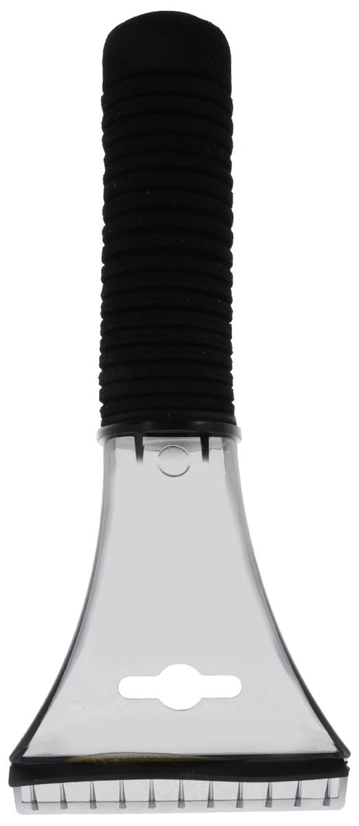 Скребок для льда Sapfire, с водосгоном, цвет: черный, длина 21 смSF-0577_ЧерныйСкребок Sapfire предназначен для удаления льда. Имеет мощную рукоятку из морозостойкого пластика с утепленной насадкой. Для наиболее удобной работы оснащен водосгоном. Длина скребка: 21 см. Ширина скребка: 9 см.