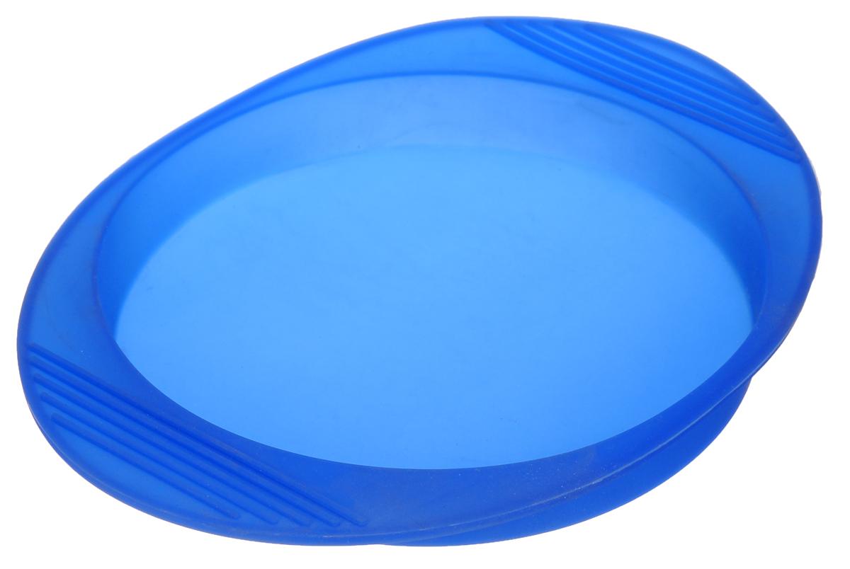 Форма для выпечки Mayer & Boch, цвет: синий, 26 х 20,5 х 3 см22072_ синийФорма для выпечки Mayer & Boch изготовлена из высококачественного силикона и оснащена ручками. Силикон - материал, который выдерживает температуру от -40°С до +230°С. Изделия из силикона очень удобны в использовании: пища в них не пригорает и не прилипает к стенкам, форма легко моется. Приготовленное блюдо можно очень просто вытащить, просто перевернув форму, при этом внешний вид блюда не нарушится. Изделие обладает эластичными свойствами: складывается без изломов, восстанавливает свою первоначальную форму. Порадуйте своих родных и близких любимой выпечкой в необычном исполнении. Подходит для приготовления в микроволновой печи и духовом шкафу при нагревании до +230°С.Размер формы (с учетом ручек): 26 х 20,5 х 3 см. Внутренний размер: 19 х 19 х 2,5 см.