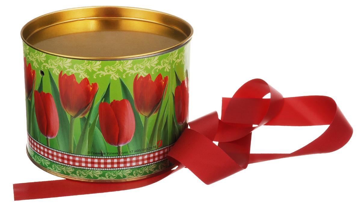 Туба подарочная Правила Успеха Тюльпаны, диаметр 12 см4610009211060Подарочная туба Правила Успеха Тюльпаны выполнена из плотного картона и металла. Изделие оформлено яркой картинкой. Туба оснащена металлической крышкой и текстильной ленточкой.Подарочная туба - это оригинальное решение, если вы хотите порадовать ваших близких и создать праздничное настроение, ведь подарок, преподнесенный в необычной упаковке, всегда будет самым эффектным и запоминающимся. Окружите близких людей вниманием и заботой, вручив презент в нарядном, праздничном оформлении.Высота тубы: 9 см.