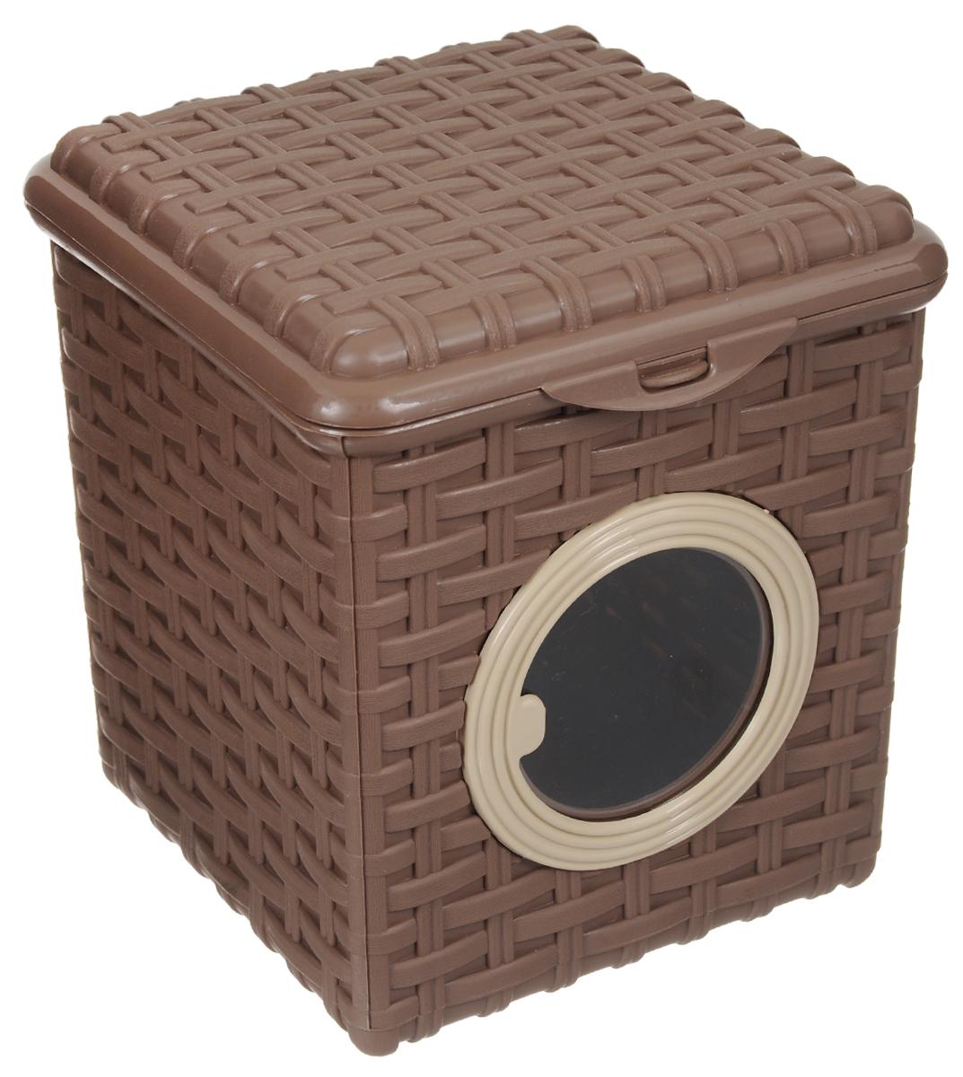 Контейнер для мелочей Violet, цвет: какао, 18 х 18,5 х 14,5 см контейнер термоизоляционный на украине