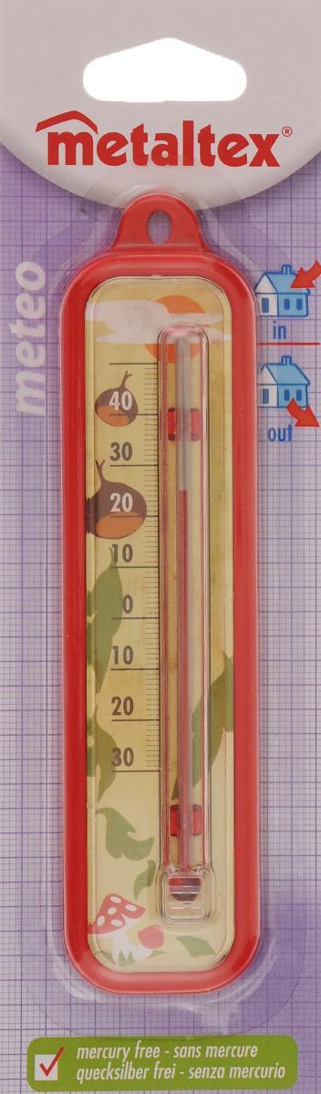 Термометр Metaltex Meteo, цвет: красный29.80.03_ красныйТермометр Metaltex Meteo выполнен из пластика и оснащен шкалой с крупными цифрами. Он предназначен для измерения температуры воздуха в помещении.Экологически безопасный термометр - не содержит ртуть.