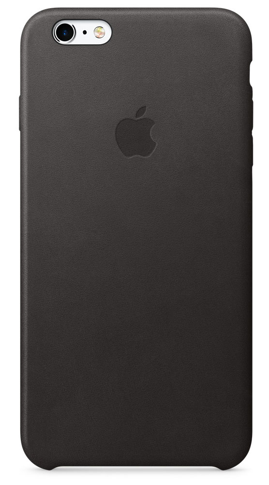 Apple Leather Case чехол для iPhone 6s Plus, Black