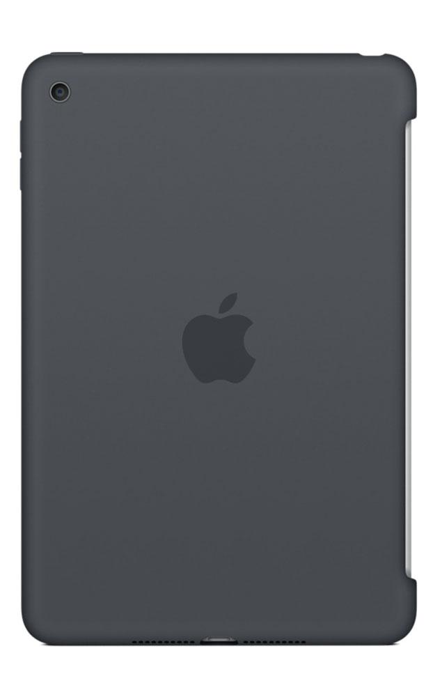 Apple Silicone Case чехол для iPad mini 4, Charcoal GrayMKLK2ZM/AСиликоновый чехол защищает заднюю поверхность iPad mini 4 и идеально совместим со Smart Cover, чтобы ваше устройство было в безопасности с обеих сторон. Чехол с гладкой силиконовой поверхностью очень приятен на ощупь и надёжно оберегает iPad mini 4, сохраняя его корпус таким же тонким и изящным.