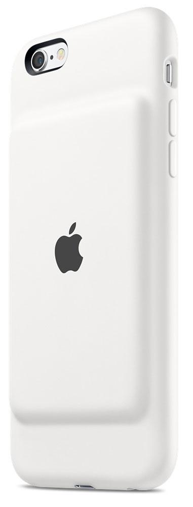 Apple Smart Battery Case чехол-аккумулятор для iPhone 6s, WhiteMGQM2ZM/AЧехол Apple Smart Battery Case разработан специально для увеличения заряда аккумулятора и защиты iPhone 6s и iPhone 6. Мягкая подкладка из микроволокна защищает корпус вашего iPhone, а благодаря шарнирной конструкции из эластомерного материала чехол легко снимать и надевать. Внешняя силиконовая поверхность чехла очень приятна на ощупь.Заряжайте свой iPhone и чехол с аккумулятором одновременно. Вы получите возможность до 25 часов говорить по телефону, до 18 часов работать в интернете через LTE, ещё дольше слушать музыку и смотреть видео. Когда iPhone находится в чехле Smart Battery Case, на экране блокировки и в Центре уведомлений отображается индикатор аккумулятора с точными данными об остатке заряда.Чехол с аккумулятором поддерживает аксессуары с разъёмом Lightning, например кабель Lightning/USB (входит в комплект поставки iPhone). Его также можно использовать с док-станцией для iPhone с разъемом Lightning (продается отдельно). Выберите один из двух прекрасных цветов.При работе в интернете: до 18 часов в сети LTEВ режиме воспроизведения видео: до 20 часов