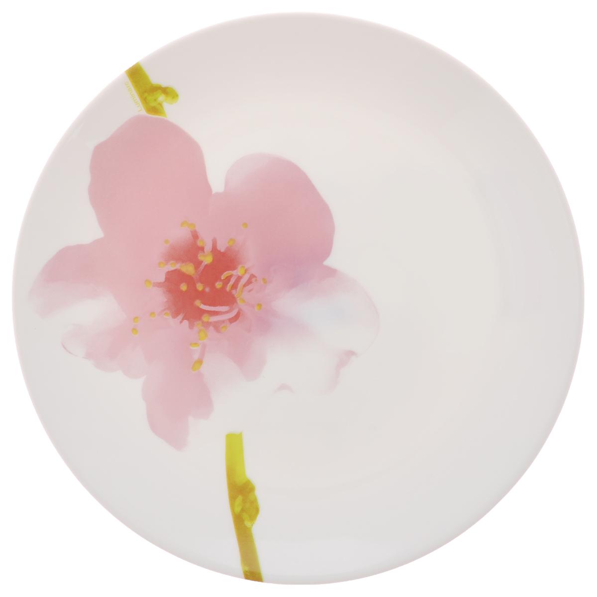 Тарелка десертная Luminarc Water Color, диаметр 19 смJ1331Десертная тарелка Luminarc Water Color, изготовленная из ударопрочного стекла, имеет изысканный внешний вид. Такая тарелка прекрасно подходит как для торжественных случаев, так и для повседневного использования. Идеальна для подачи десертов, пирожных, тортов и многого другого. Она прекрасно оформит стол и станет отличным дополнением к вашей коллекции кухонной посуды. Диаметр тарелки (по верхнему краю): 19 см.