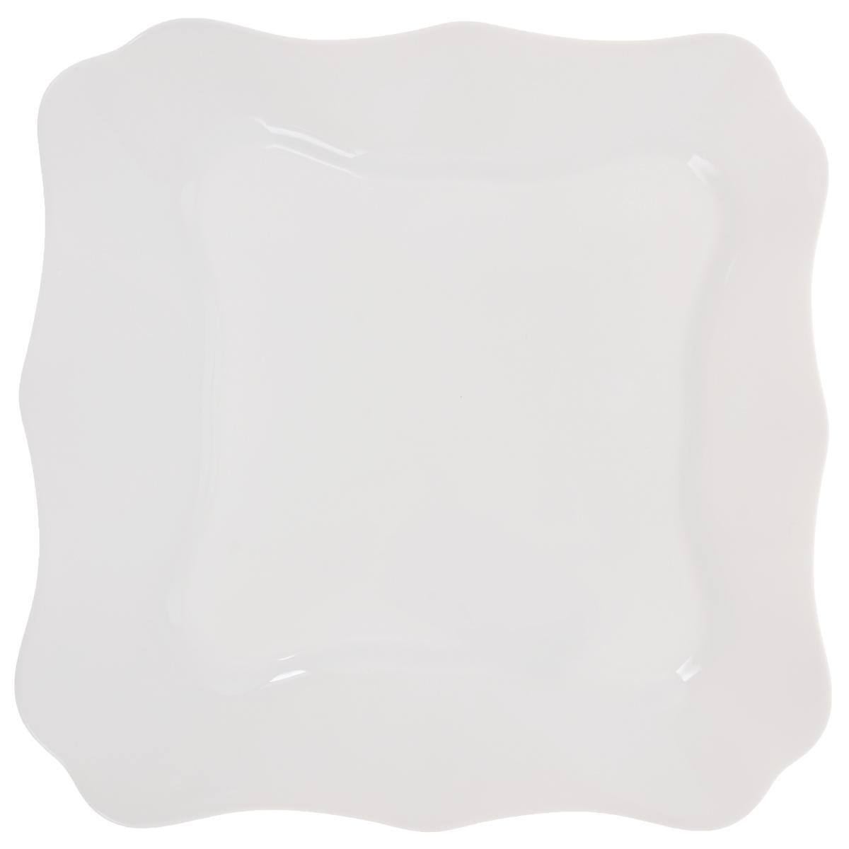 Тарелка десертная Luminarc Authentic White, 20 х 20 смJ4701Десертная тарелка Luminarc Authentic White, изготовленная из ударопрочного стекла, имеет изысканный внешний вид. Такая тарелка прекрасно подходит как для торжественных случаев, так и для повседневного использования. Идеальна для подачи десертов, пирожных, тортов и многого другого. Она прекрасно оформит стол и станет отличным дополнением к вашей коллекции кухонной посуды. Размер тарелки (по верхнему краю): 20 х 20 см.