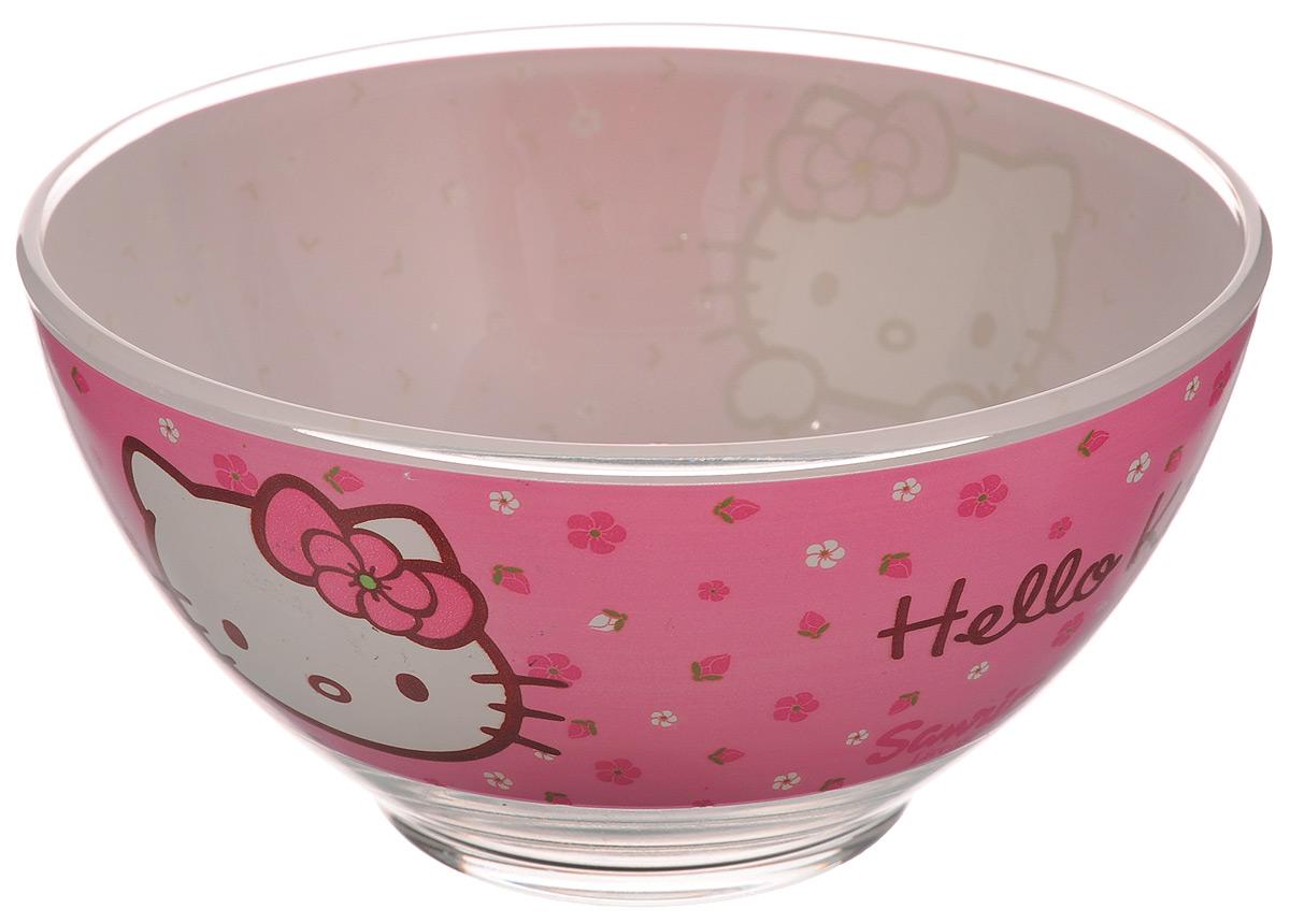 Пиала Luminarc Hello Kitty. Sweet Pink, 500 млH9225Пиала Luminarc Hello Kitty. Sweet Pink изготовлена из высококачественного стекла и украшена изображением Hello Kitty. Изделие прекрасно подойдет для салатов, супа или мороженого. Благодаря оригинальному дизайну, такая пиала понравится вашим детям. Она дополнит коллекцию кухонной посуды и будет служить долгие годы. Диаметр пиалы (по верхнему краю): 13 см.