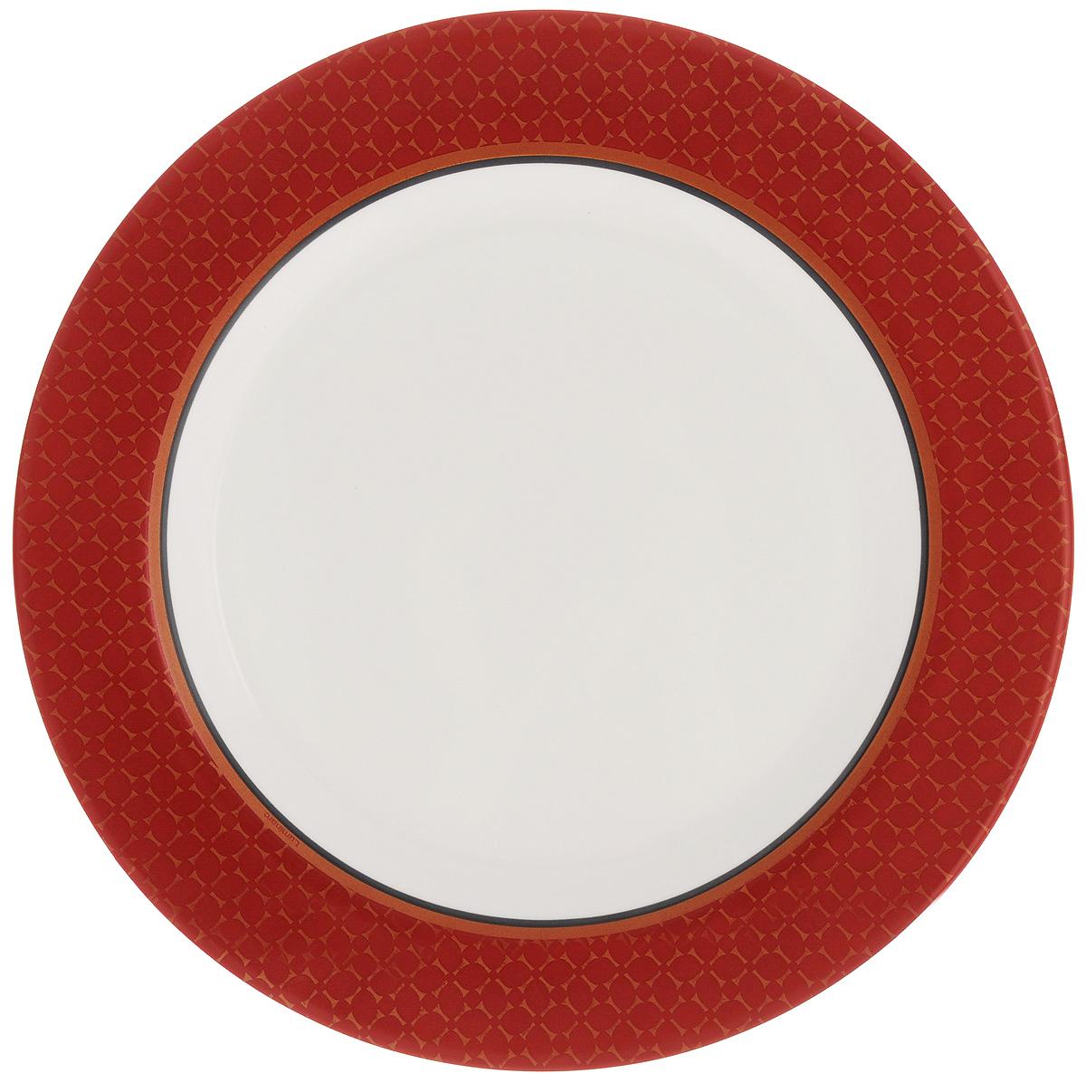 Тарелка обеденная Luminarc Alto, диаметр 27,5 смJ3737Обеденная тарелка Luminarc Alto, изготовленная из высококачественного стекла, имеет изысканный внешний вид. Яркий дизайн придется по вкусу и ценителям классики, и тем, кто предпочитает утонченность. Тарелка Luminarc Alto идеально подойдет для сервировки стола и станет отличным подарком к любому празднику.Диаметр (по верхнему краю): 27,5 см.