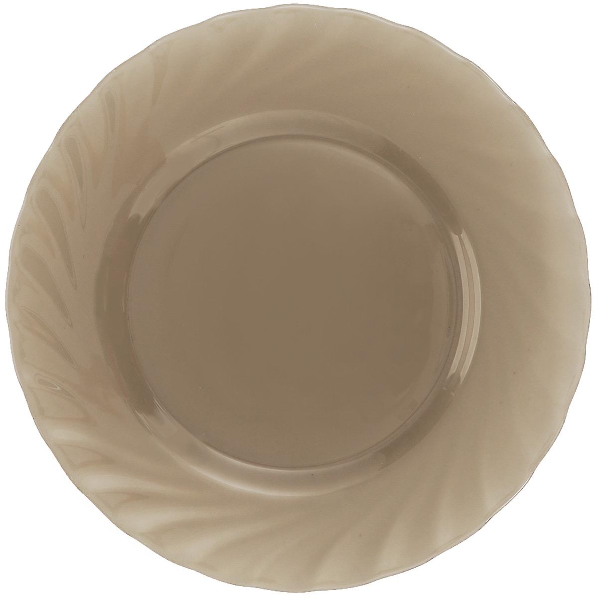 Тарелка обеденная Luminarc Ocean Eclipse, диаметр 24,5 смH0244Обеденная тарелка Luminarc Ocean Eclipse, изготовленная из высококачественного стекла, имеет изысканный внешний вид. Яркий дизайн придется по вкусу и ценителям классики, и тем, кто предпочитает утонченность. Тарелка Luminarc Ocean Eclipse идеально подойдет для сервировки стола и станет отличным подарком к любому празднику.Диаметр (по верхнему краю): 24,5 см.