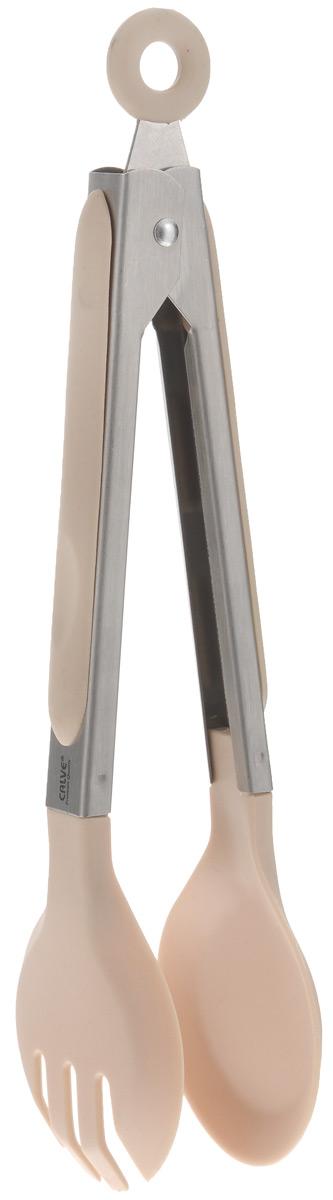 Щипцы сервировочные Calve, длина 23 см. CL-4638CL-4638_бежевыйСервировочные щипцы Calve, выполненные из нержавеющей стали и нейлона, оснащены специальным отверстием для подвешиванияи снабжены резиновыми вставками для удобного и надежного хвата. Ими удобно сервировать тарелку приготовленными продуктами. Изделие безопасно для посуды с антипригарным покрытием.Такой кухонный аксессуар создаст комфорт не только вашим гостям, но и вам. Высококачественные материалы изделия способствует длительному использованию.Можно мыть в посудомоечной машине. Длина щипцов (без учета петельки): 23 см.