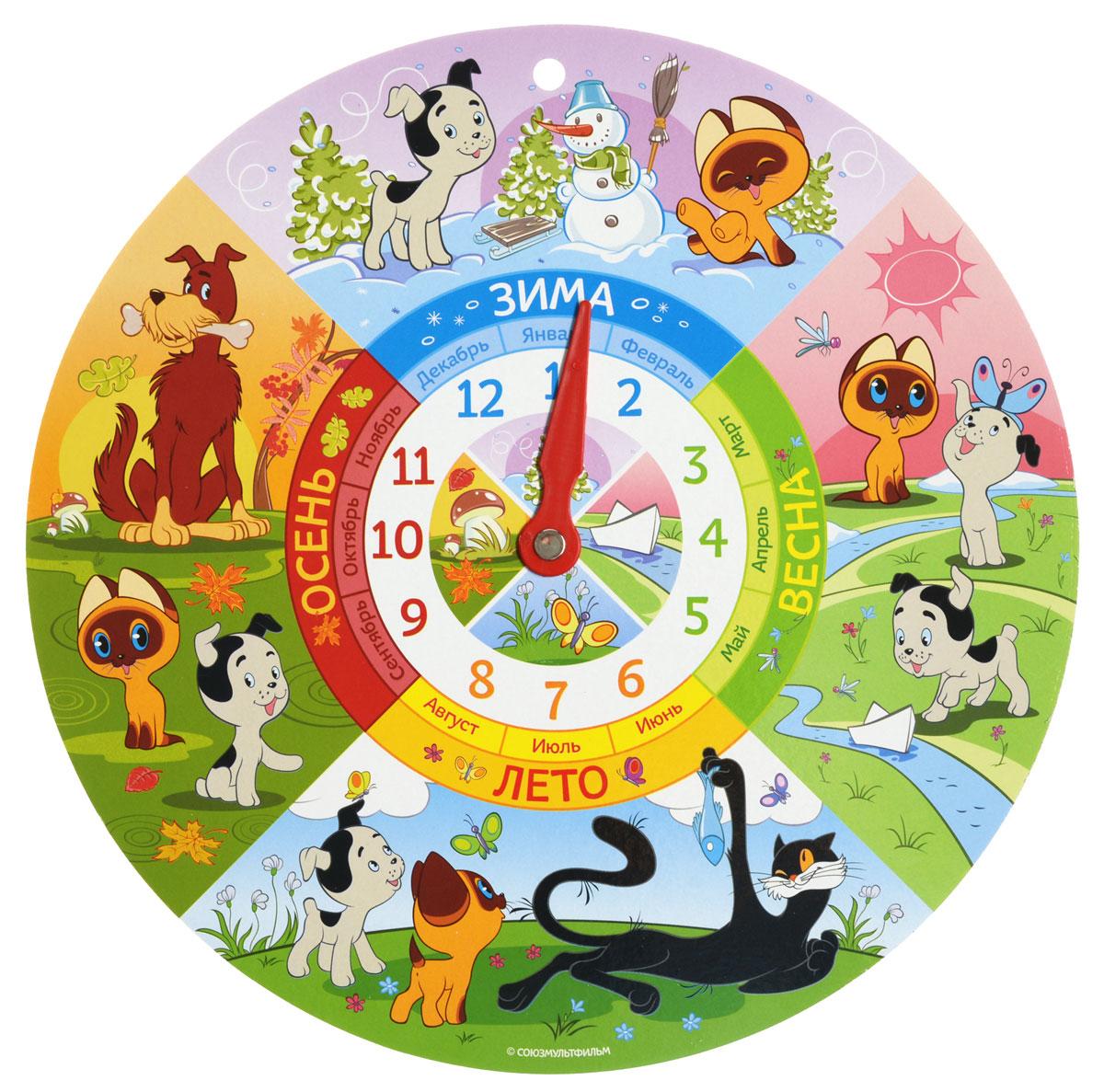 Русский стиль Обучающая игра Часы Котенок Гав