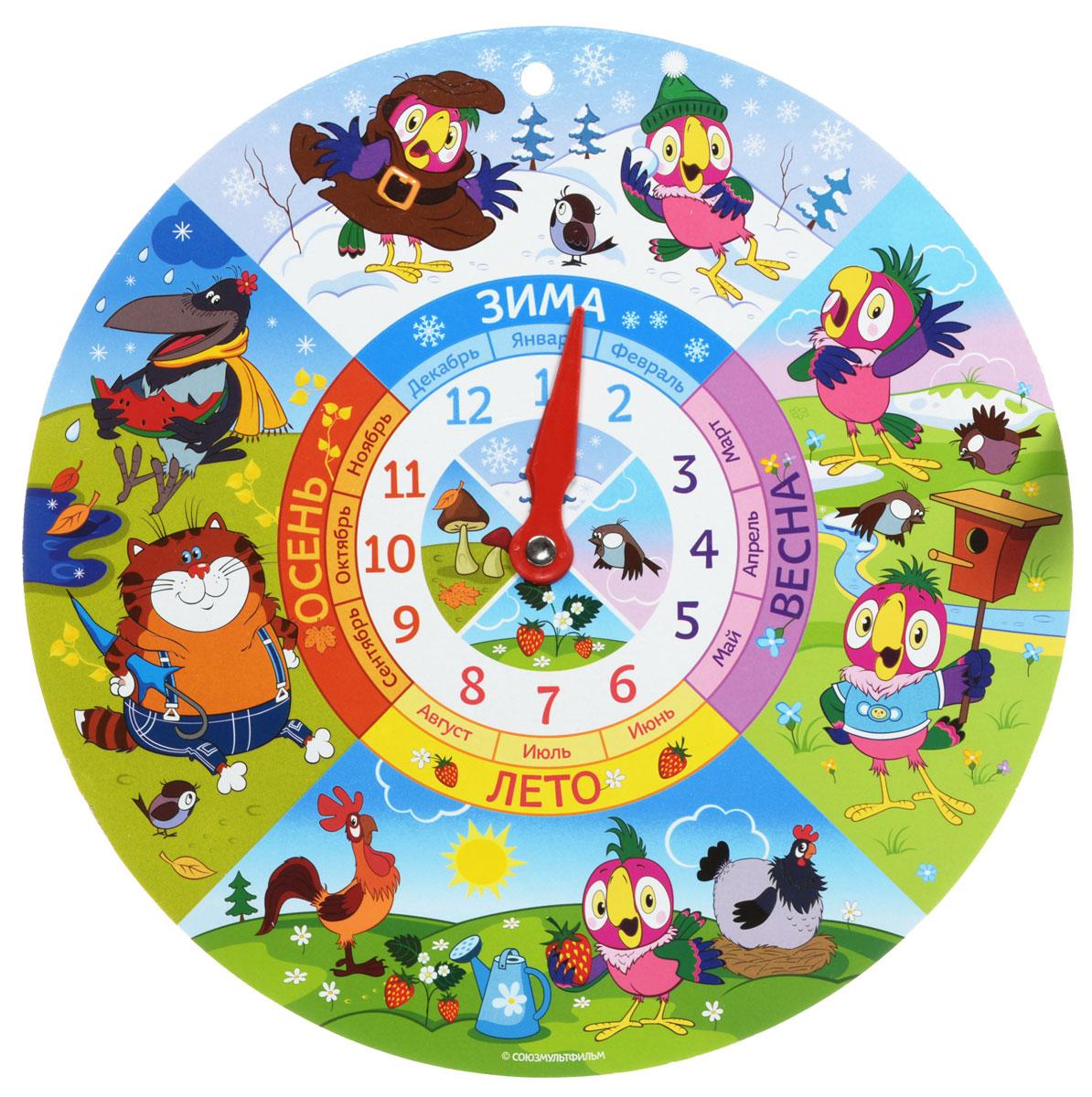 Русскй стль Обучающая гра Часы Попугай Кеша