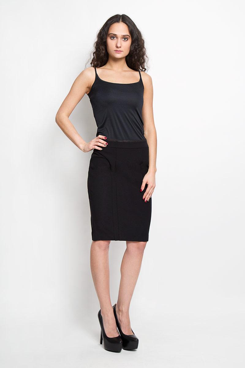 Юбка Baon, цвет: черный. B475003. Размер S (44)B475003Эффектная юбка Baon выполнена из высококачественного плотного эластичного полиамида, она обеспечит вам комфорт и удобство при носке.Элегантная юбка-карандаш застегивается на скрытую застежку-молнию на спинке. Модная юбка выгодно освежит и разнообразит ваш гардероб. Создайте женственный образ и подчеркните свою яркую индивидуальность! Классический фасон и оригинальное оформление этой юбки сделают ваш образ непревзойденным.