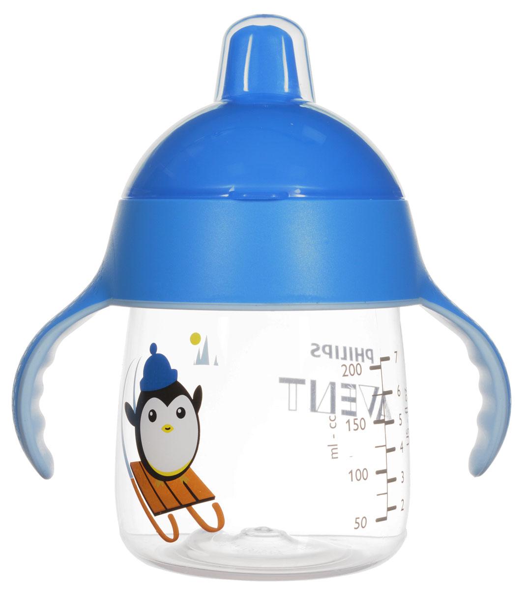 Philips Avent Волшебная чашка-непроливайка для детей от 12мес., голубой SCF753/00 -  Поильники