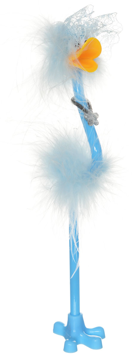 Centrum Ручка-игрушка Flamingo с подставкой цвет голубой82965_голубая шляпаЗабавная шариковая ручка-игрушка Flamingo станет отличным подарком инезаменимым аксессуаром на вашем рабочем столе.Ручка, украшеннаяперьями, выполнена в виде забавной птички фламинго. К ручке прилагаетсяподставка в виде лапки. Такая ручка - это забавный и практичный подарок, онане потеряется среди бумаг и непременно вызовет улыбку окружающих.