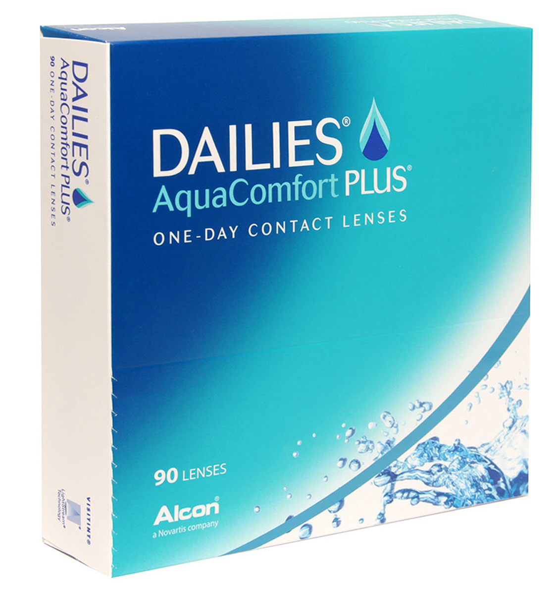 Alcon-CIBA Vision контактные линзы Dailies AquaComfort Plus (90шт / 8.7 / 14.0 / -4.25)