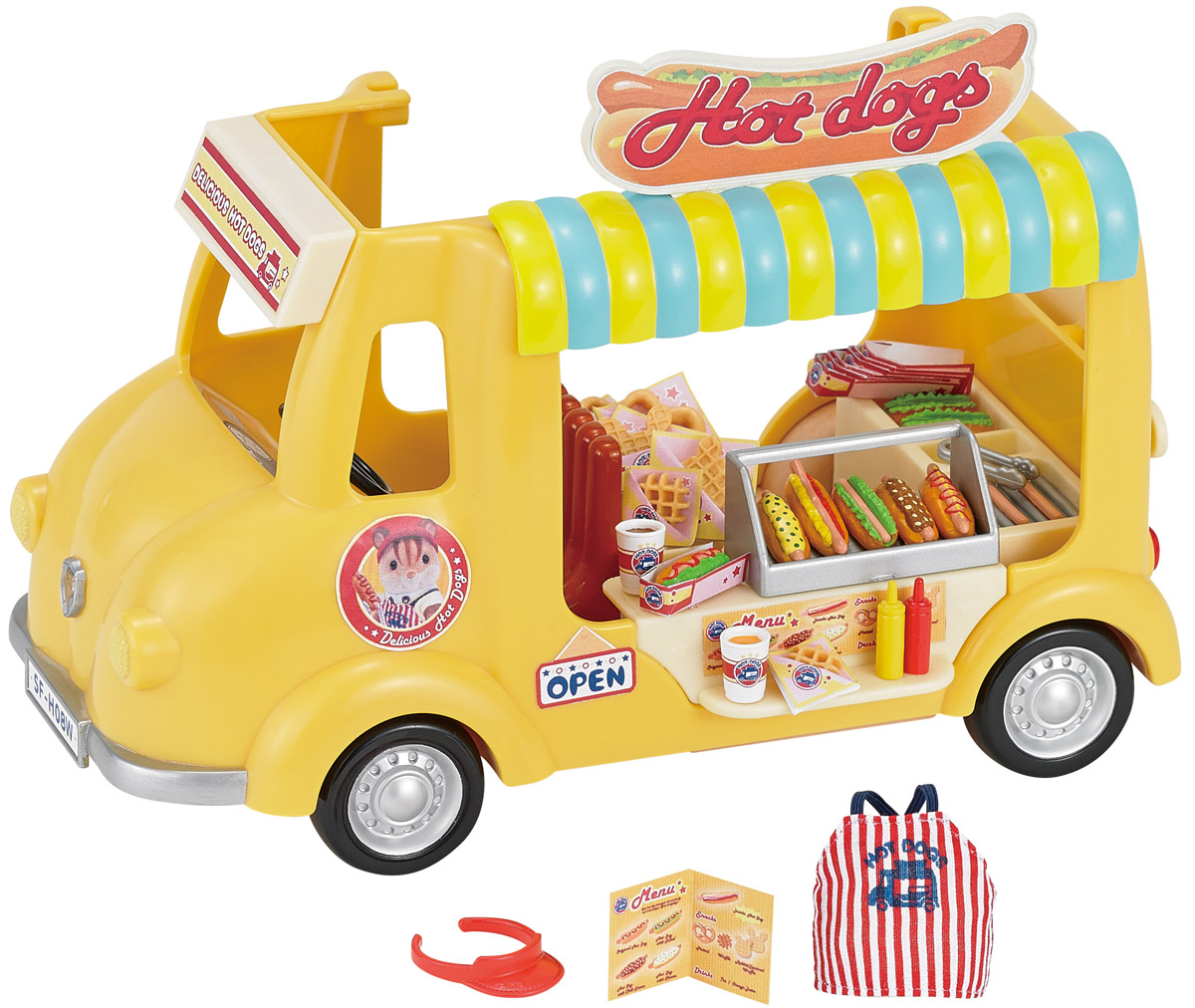 Sylvanian Families Игровой набор Фургон с хот-догами набор холодильник с продуктами sylvanian families
