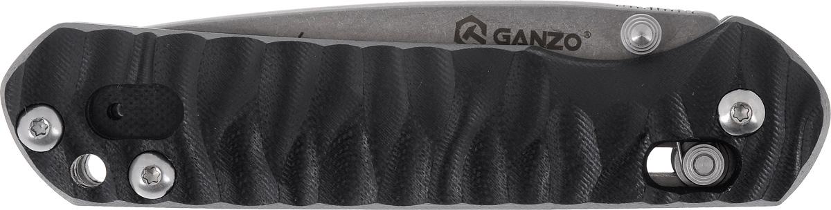 Нож туристический Ganzo G717, складной, цвет: черный нож складной туристический ganzo g704 y цвет серый