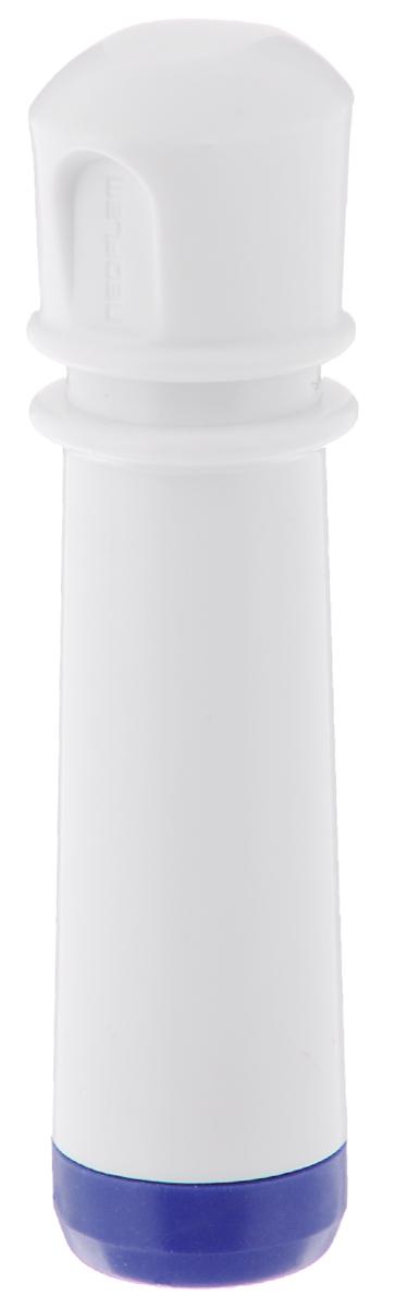 Насос вакуумный для контейнеров Microban, цвет: белый, синийVS2R-00Вакуумный насос Microban, изготовленный из высококачественного пластика с прорезиненными вставками, станет не заменимым помощником на вашей кухне. С помощью такого насоса одним простым движением можно быстро выкачать воздух из контейнера. Это обеспечит герметичность и дольше сохранит продукты свежими.