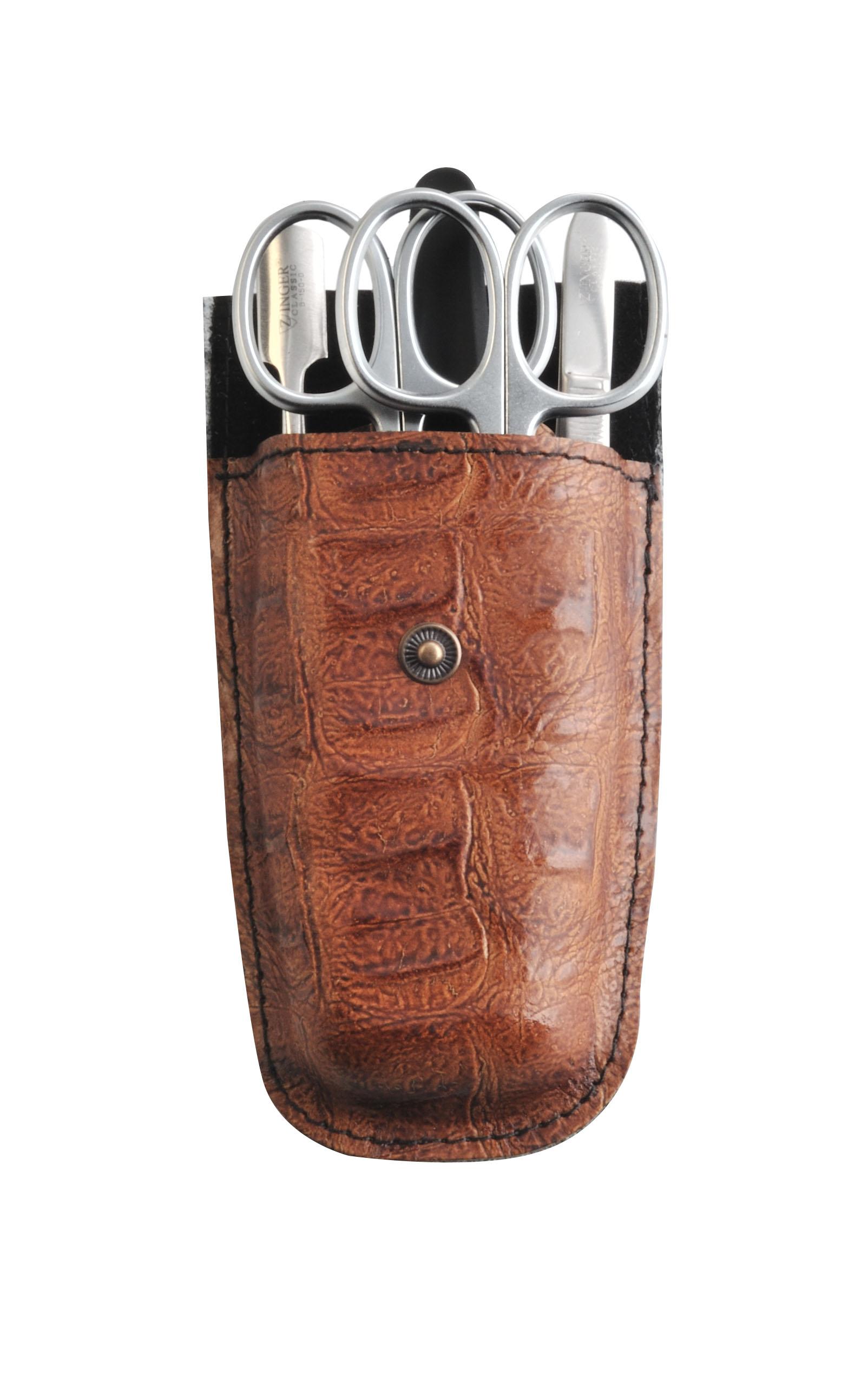 Zinger Маникюрный набор zMs Z-5-SM-SF13069Ман. набор 5 предметов (ножницы кутикульные, ножницы ногтевые, пилка алмазная, металлический двусторонний шабер , пинцет). Чехол натуральная кожа. Цвет инструментов - матовое серебро. Оригинальня фирменная коробкаКак ухаживать за ногтями: советы эксперта. Статья OZON Гид