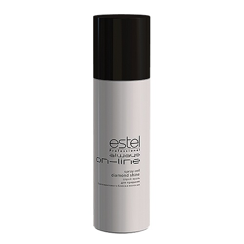 Estel Always On-Line - Спрей-вуаль для придания бриллиантового блеска волос 250 млOL.8Проблемы волос: ТусклостьИнновационный спрей-вуаль для придания бриллиантового блеска волосам (без фиксации) гарантирует: Равномерное идеальное сияние Защиту от негативного воздействия окружающей среды Быстрое высыхание при распылении Результат: Не только великолепная укладка, но и забота о здоровье волос становятся первым пунктом для ESTEL Always ON-LINE.