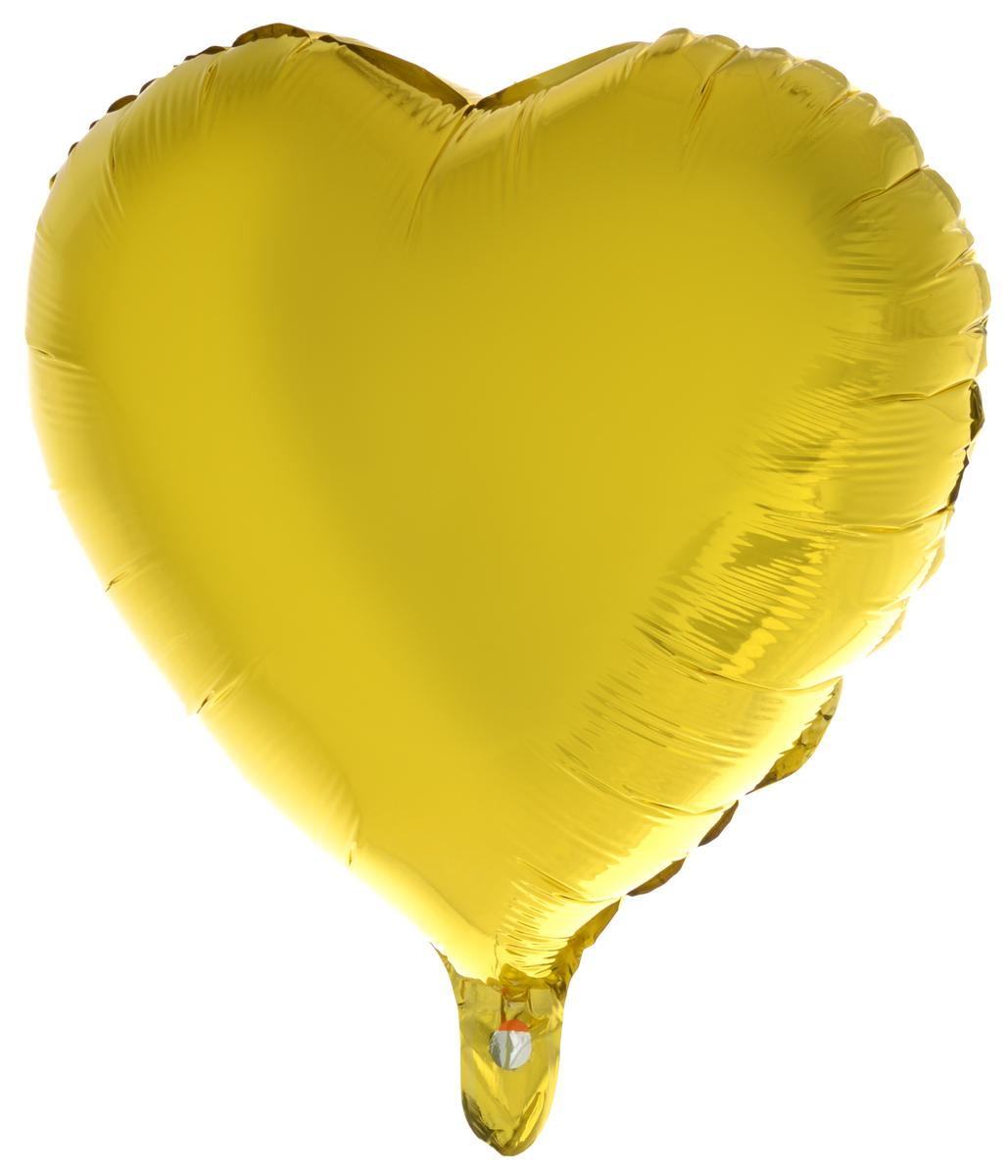 Action! Шар фольгированный Сердце цвет золотистый -  Воздушные шарики