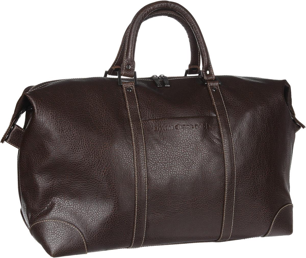 Сумка дорожная Antan, цвет: темно-коричневый. 2-207 сумка дорожная zfts цвет темно синий 189084