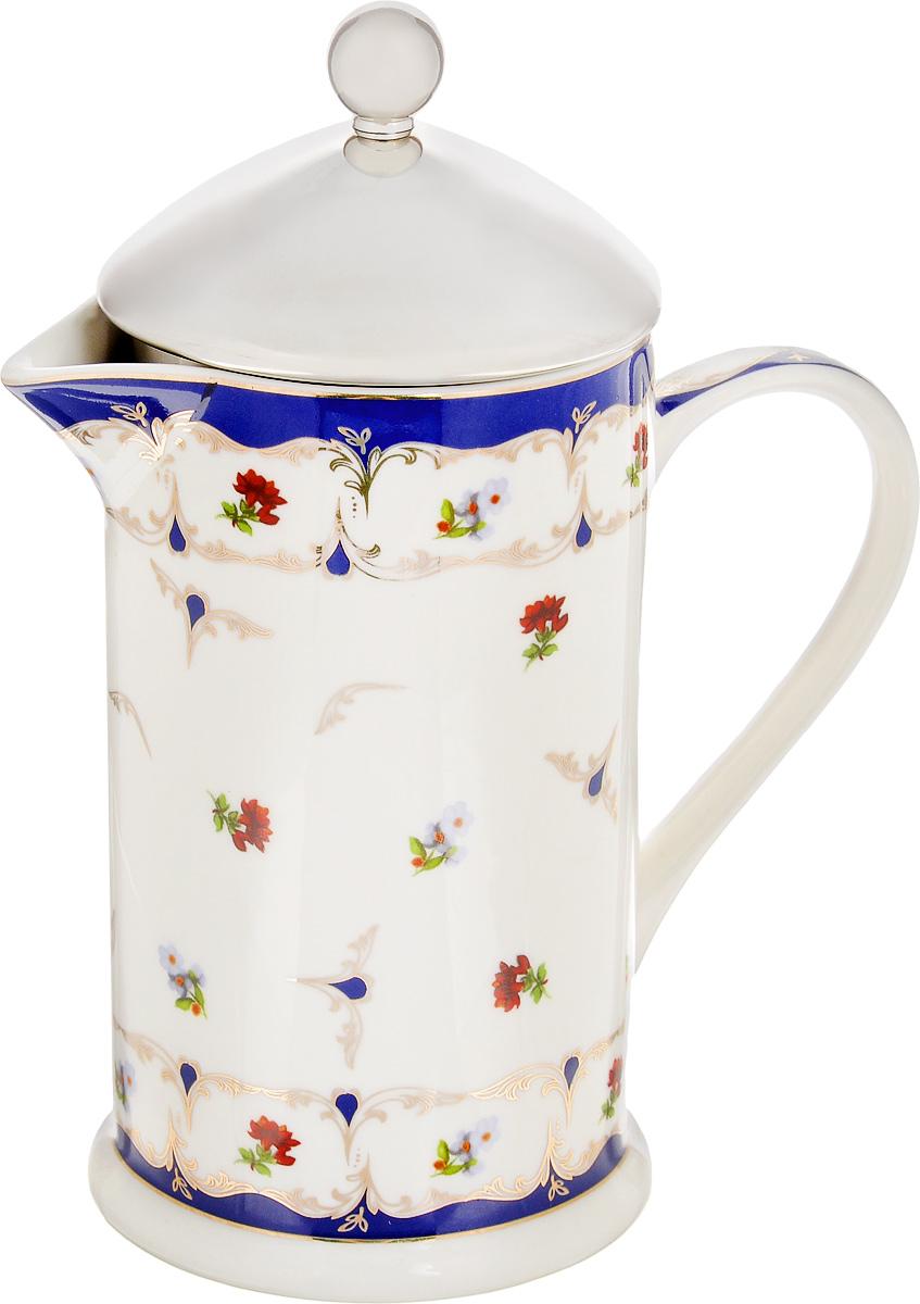 Френч-пресс Elan Gallery Цветочек, 750 мл503748Френч-пресс Elan Gallery Цветочек используется для заваривания крупнолистового чая, кофе среднего помола, травяных сборов. Изделие, изготовленное из высококачественной керамики и стали, декорировано красочным изображением. Френч-пресс Elan Gallery Цветочек незаменим для любителей чая и кофе.Не рекомендуется применить абразивные моющие средства. Не использовать в микроволновой печи. Объем: 750 мл.Диаметр (по верхнему краю): 9 см.
