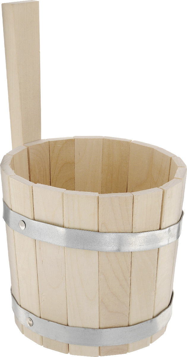 Ковш для бани и сауны Proffi Sauna, цвет: натуральное дерево, 3 л оздоровительная косметика proffi бальзам масло для суставов proffi sauna 100 мл