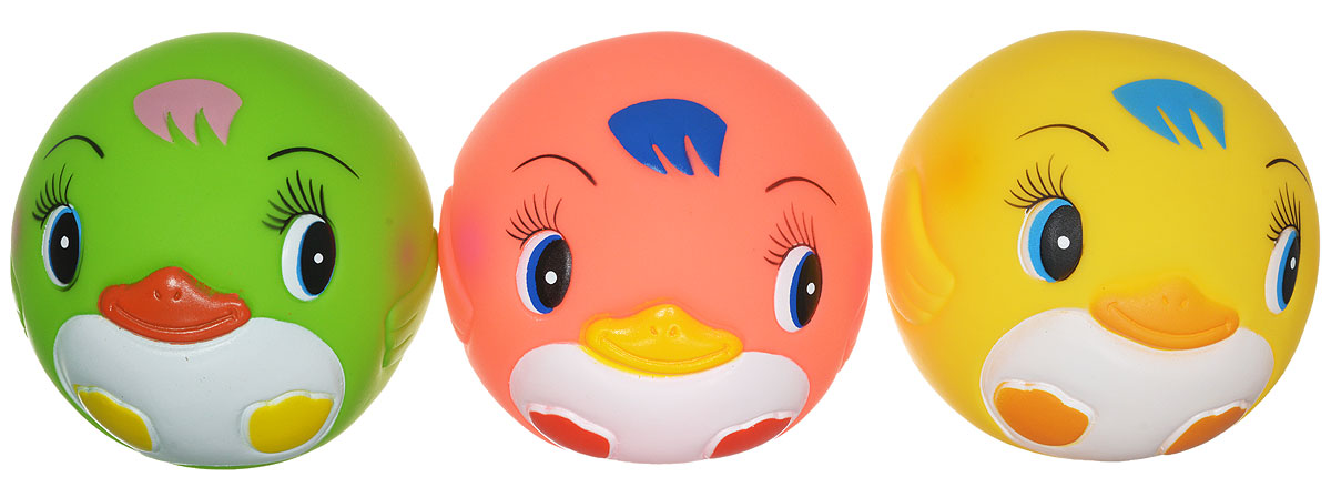 Курносики Игрушка для ванной Мячики-пингвины цвет желтый розовый салатовый 3 шт мячики little hero сенсорные мячики