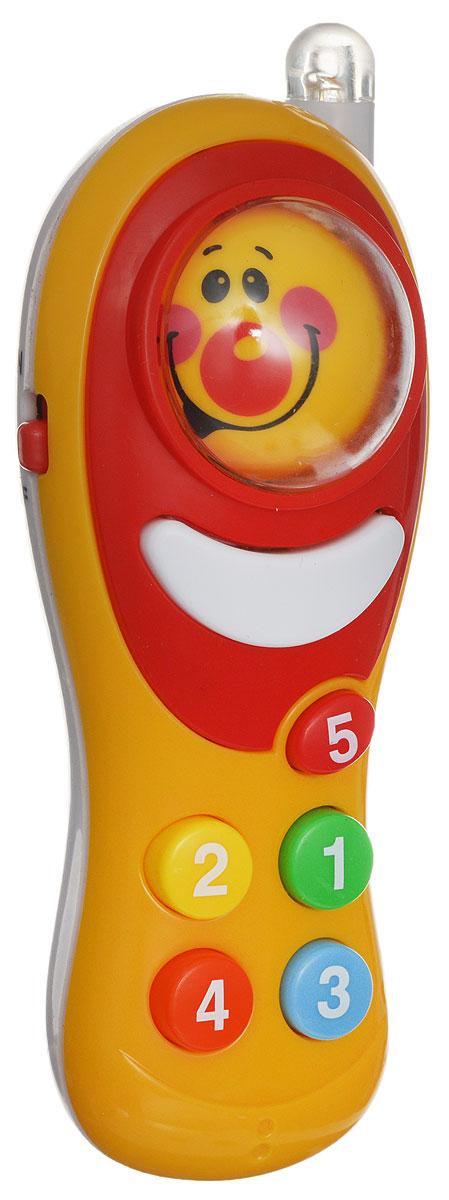 ABtoys Развивающая игрушка Интеллектуальный мобильный телефон цвет оранжевый игрушка м134 миниган купить