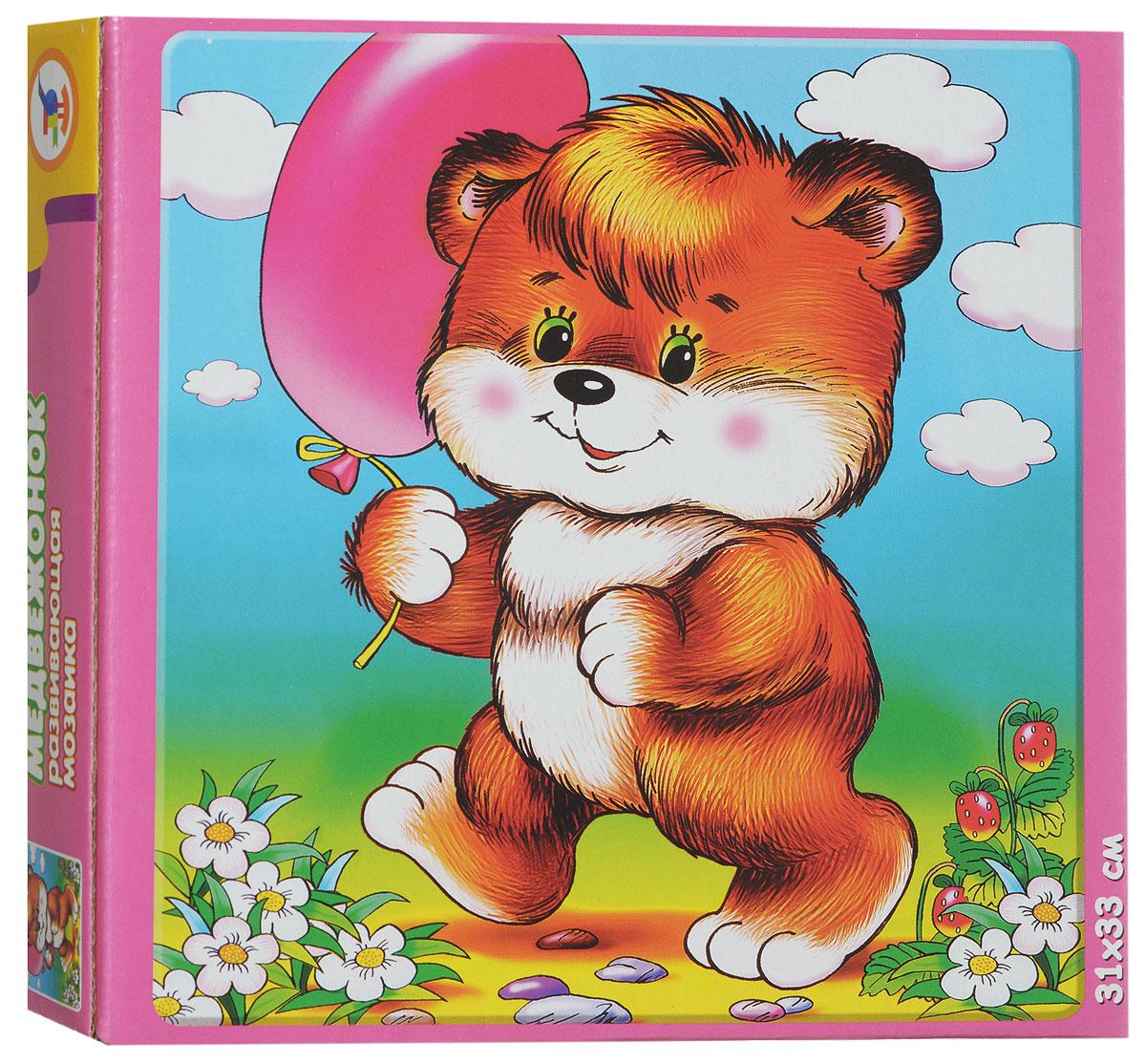 Дрофа-Медиа Пазл для малышей Медвежонок дрофа медиа пазл для малышей играй и собирай 4 в 1 2938