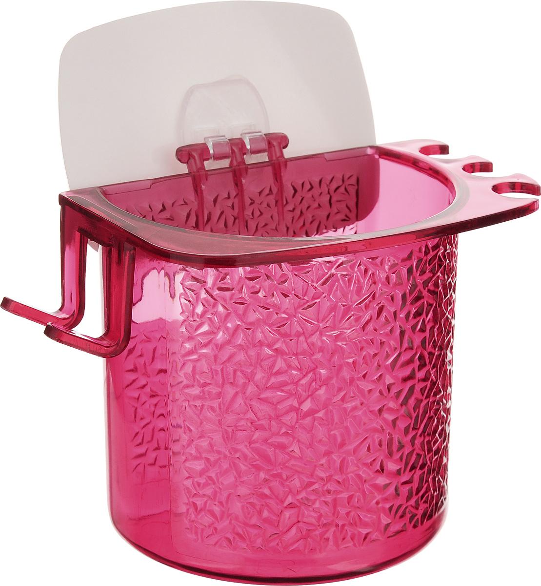 Стакан для ванной Fresh Code, на липкой основе, цвет: малиновый64945_малиновыйСтакан для ванной комнаты Fresh Code выполнен из ABS пластика. Крепление на липкой основе многократного использования идеально подходит для гладкой поверхности. С оборотной стороны изделие оснащено двумя отверстиями для удобного размещения на стене.В стакане удобно хранить зубные щетки, пасту и другие принадлежности. Аксессуары для ванной комнаты Fresh Code стильно украсят интерьер и добавят в обычную обстановку яркие и модные акценты. Стакан идеально подойдет к любому стилю ванной комнаты.