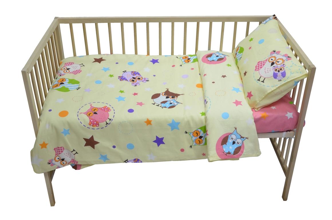 Bonne Fee Комплект белья для новорожденных Совы цвет бежевый розовыйОКПБД110х140/СБРКомплект постельного белья Bonne Fee Совы является экологически безопасным для маленьких детей, так как выполнен из натурального хлопка. Веселый, жизнерадостный дизайн поднимет настроение любому.